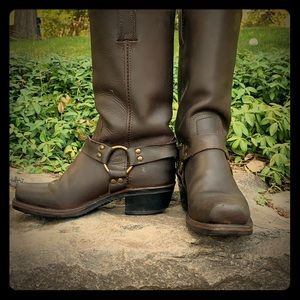 Frye Leather Boots.  'Harness 12R' style.